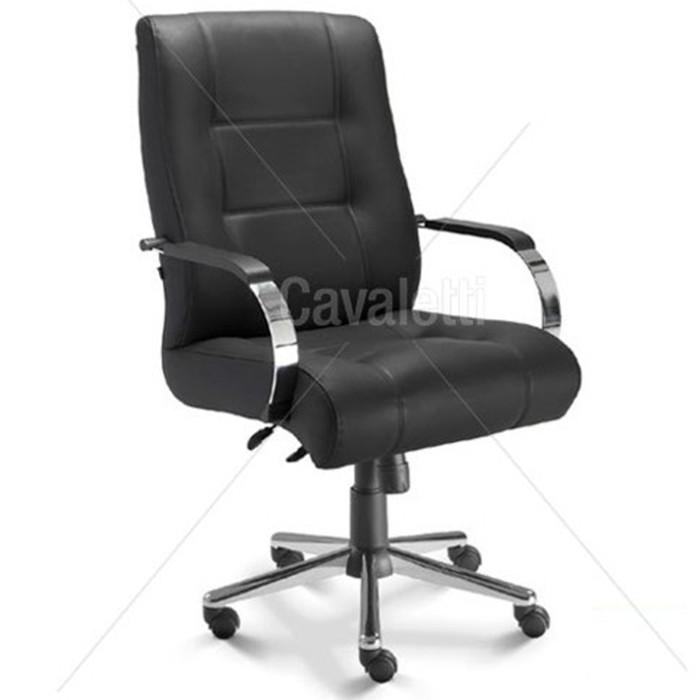 Cadeira para escritório giratória diretor 20103 Extra - Capacidade 140kg - Linha Prime - Cavaletti - Base Estampada Cromada