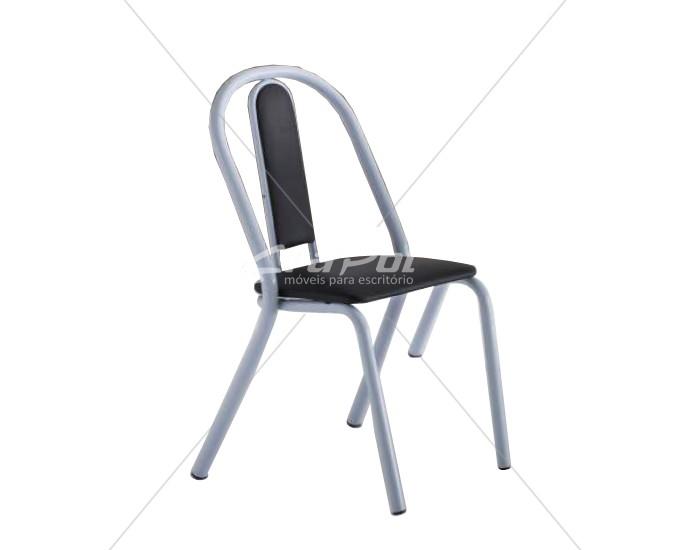 Cadeira 403 em Aço - Assento Quadrado- Estofada - Unimóvel