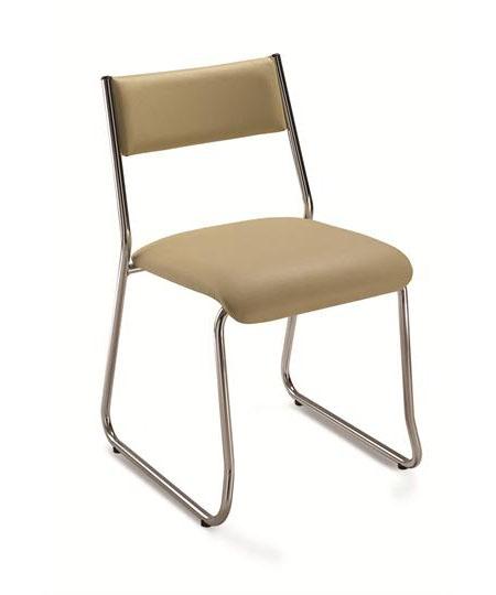 Cadeira para escritório fixa aproximação 1003 -  ESTRUTURA Cromada - Linha Coletiva - Cavaletti