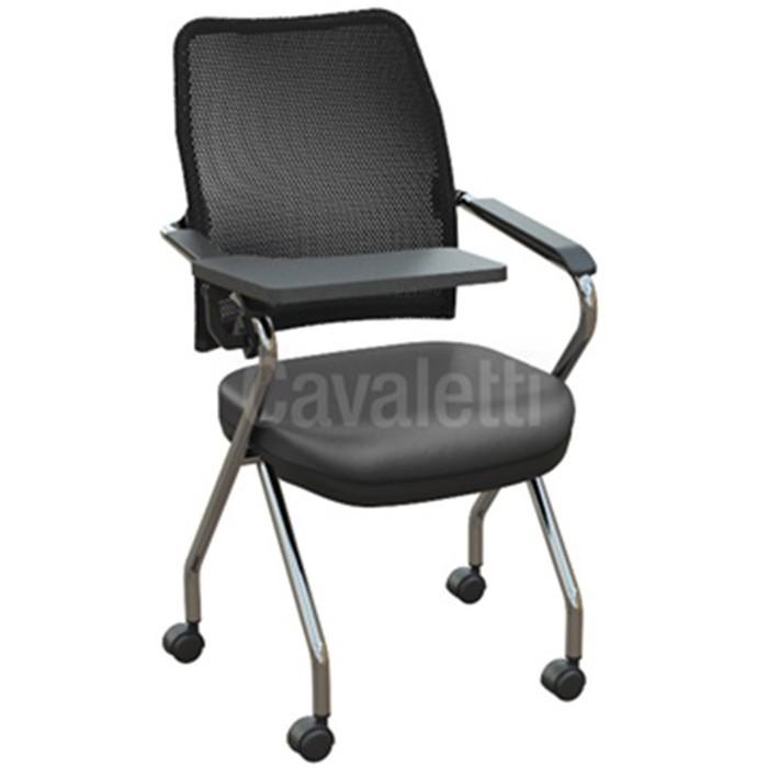 Cadeira Universitária 16006 Z - Prancheta Retrátil - Estrutura Cromada - Linha NewNet - Cavaletti