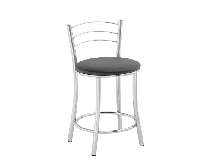 Banqueta Bar 076 - Com Encosto 3 Arames - 45cm - Assento Estofado