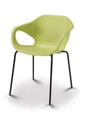 Cadeira para escritório fixa aproximação 33106 Palito - Linha Stay - Estrutura Preta -  Cavaletti