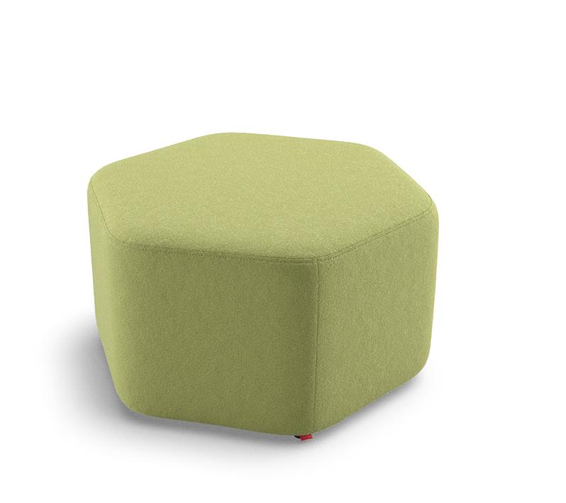 Puff Hexagonal Regular Médio 36645 - Altura 450mm x Profundidade 815mm x Largura 719mm - Linha Fun - Cavaletti