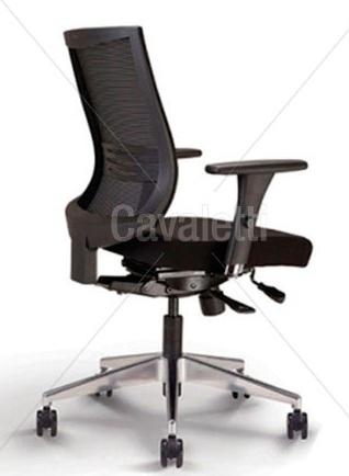 Cadeira para escritório giratória 27001 - Syncron - Linha Air - Braço 3D - Cavaletti - Base em Alumínio -