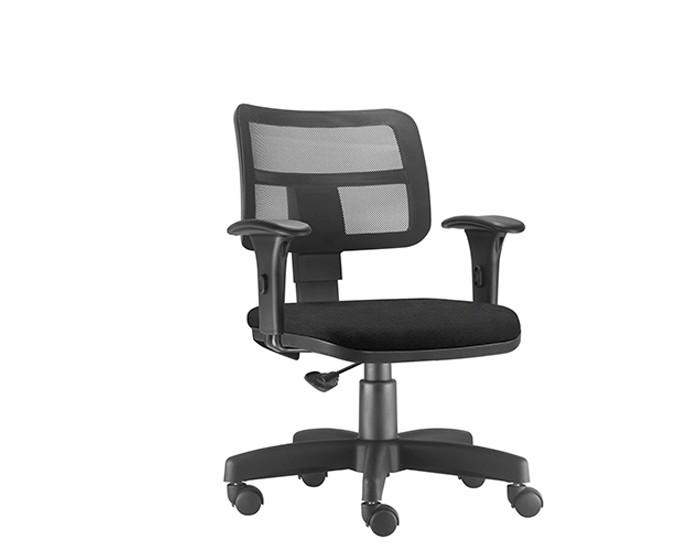 Cadeira Para Escritório Diretor Giratória ZIP361 - Mecanismo Evolution - Encosto em Tela - Base Metálica com Capa - Linha ZIP - Com Braço PP - Frisokar