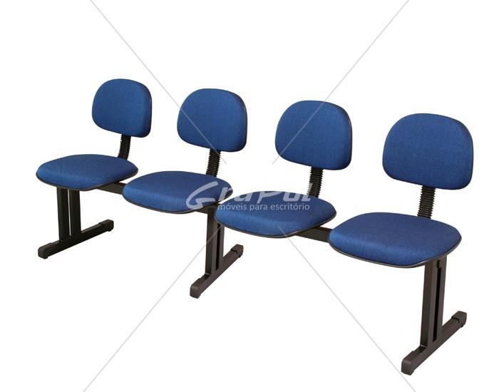 Cadeira Longarina Secretária - 04 Lugares - Dellus
