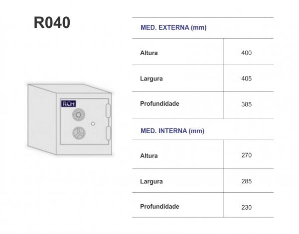 Cofre R 040 - RCH - Peso 80 Kg - 40cm Altura  -