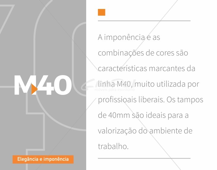 Mesa Reta Pé Painel - MDP 40mm - Tampo em Vidro 4mm - 1500mm x 700mm x 750mm -