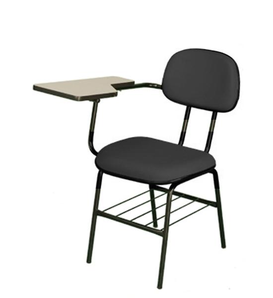 Cadeira Universitária - Prancheta Fixa - Com Gradil para Livros - Espuma Injetada