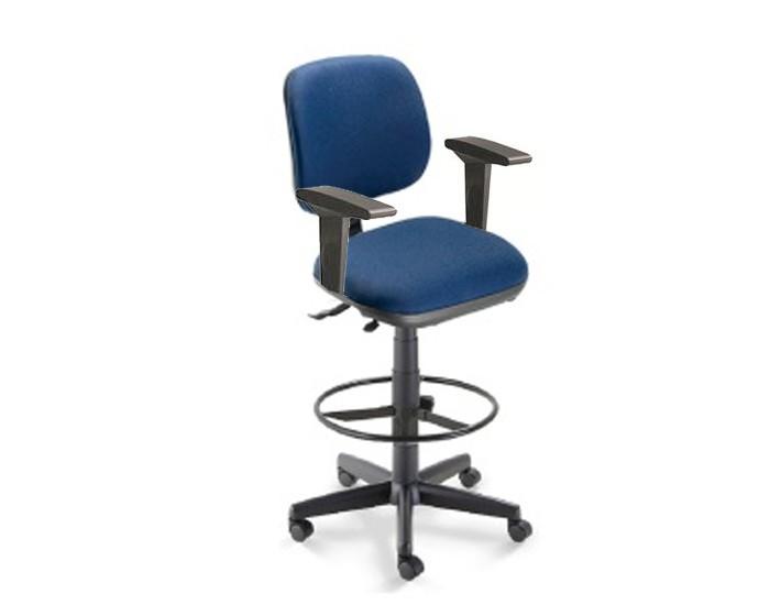 Cadeira giratória caixa 4123 - SRE com Braço - Linha Start - Cavaletti - Com Aro Regulável - Base Polaina com Sapata