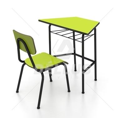 Conjunto de mesas e cadeiras SEXTAVADO INFANTIL (1 à 5 anos) colorido - Dellus -