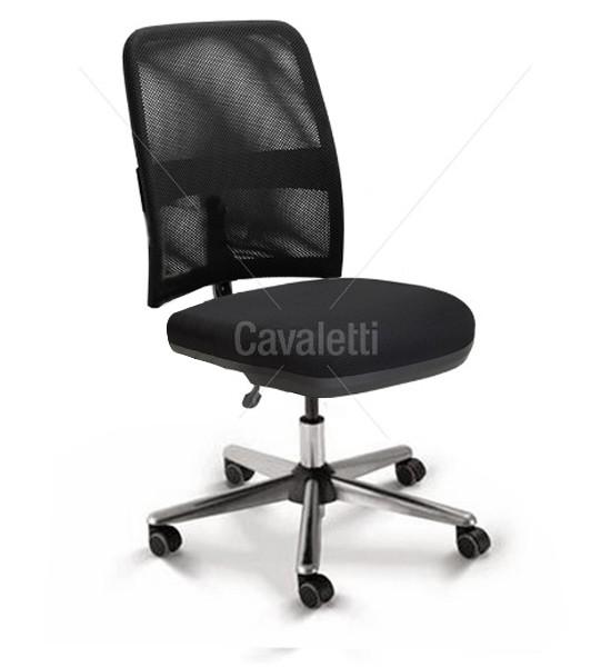 Cadeira para escritório executiva giratória 16003 SRE - Linha NewNet - Cavaletti - Base Estampada Cromada