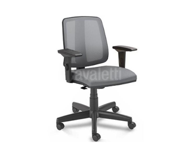 Cadeira para escritório executiva giratória 43103 - Linha Flip - Braço SL - Cavaletti - Aranha POLAINA