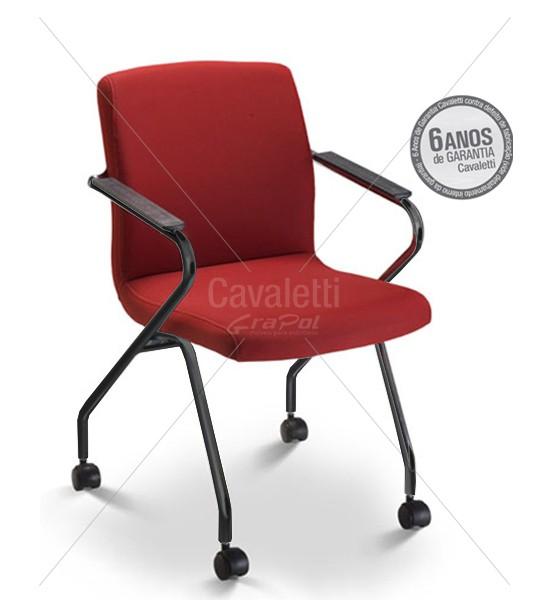 Cadeira para escritório com rodízio 18006 Z - Linha Slim - ESTRUTURA PRETA Cavaletti