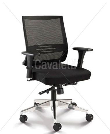 Cadeira para escritório giratória 27001 - Syncron - Linha Air - Braço 3D - Cavaletti - Base em Alumínio