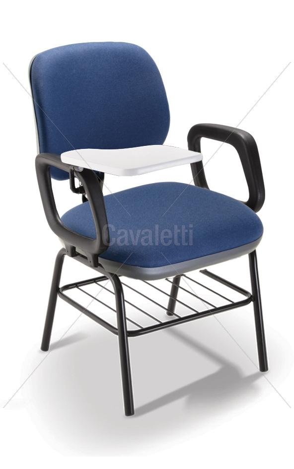 Cadeira Universitária 4107 PUE c/ Gradil e Prancheta Melamínico Escamoteável - Linha Start - Cavaletti