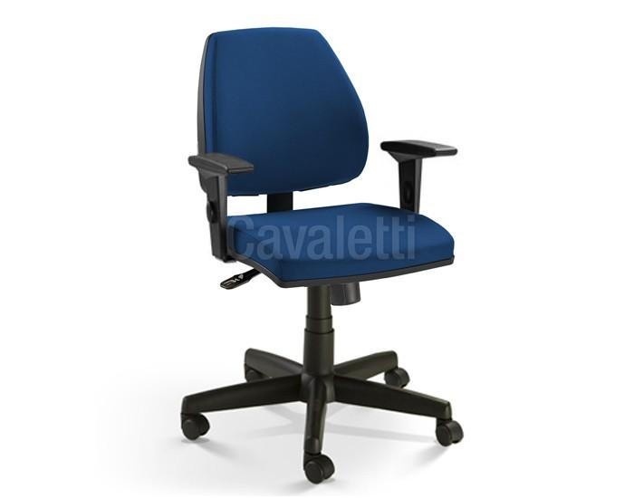 Cadeira para escritório giratória EXECUTIVA 38003 SYNCRON - Linha Pro - Braço SL -  Cavaletti - Base Polaina