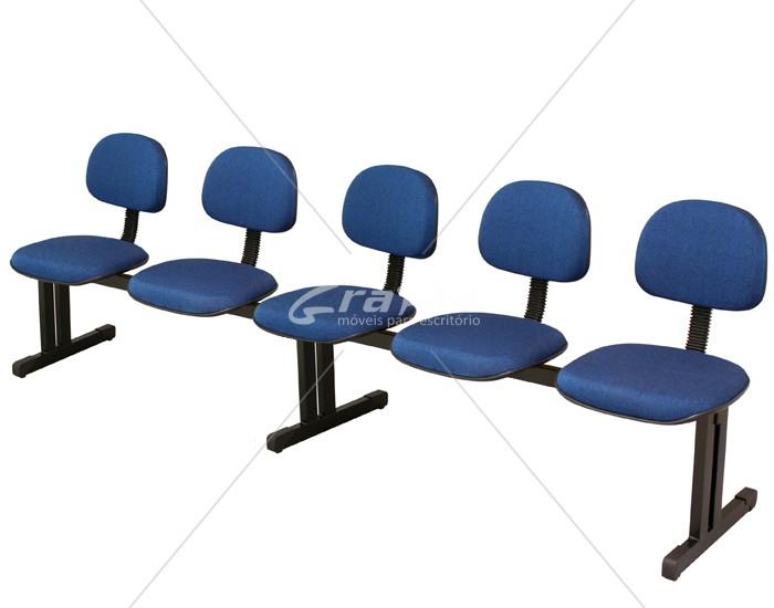 Cadeira Longarina Secretária - 05 Lugares - Dellus