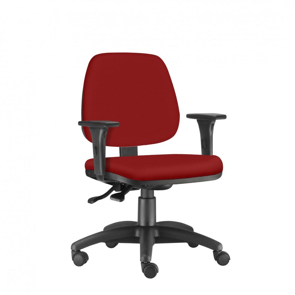 Cadeira Para Escritório Diretor Giratória JOB220 - Mecanismo Evolution - Base Nylon - Linha Job - Com Braço PU - Frisokar