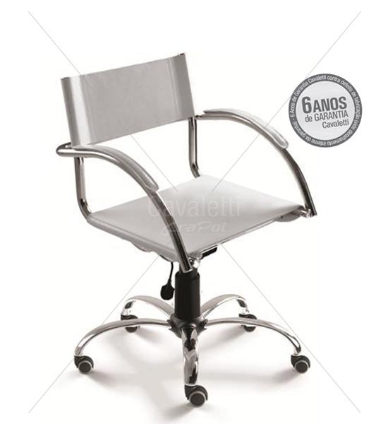 Cadeira para escritório Secretária Giratória 14004 - Linha Chroma - Cavaletti - Base Elíptica Cromada