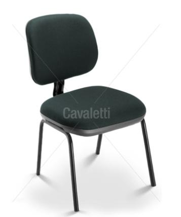 Cadeira para escritório fixa aproximação  4107 P - Linha Start - Cavaletti