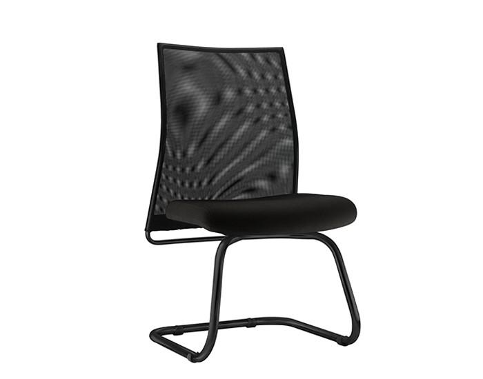 Cadeira Fixa LISFX105 - Base SKL Preta - Encosto em Tela - Linha LISS - Sem Braço - Frisokar