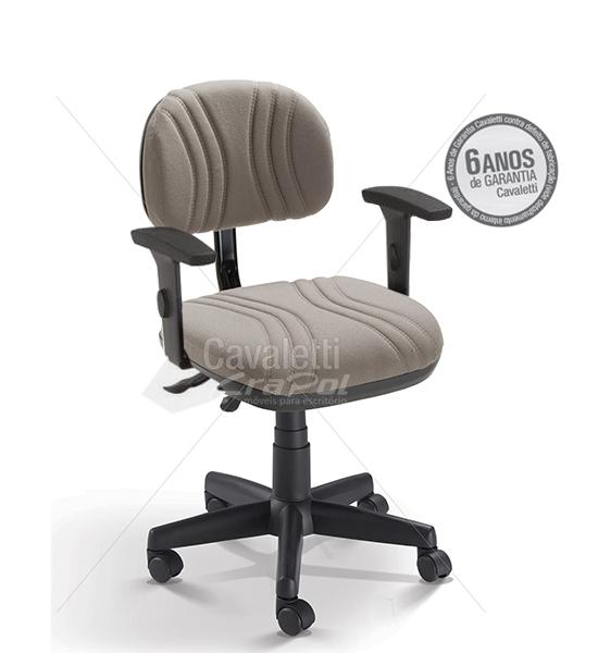 Cadeira para escritório Secretária Giratória BG 3004 SRE BKG - Linha Start Plus - Braço SL - Cavaletti - Base Polaina