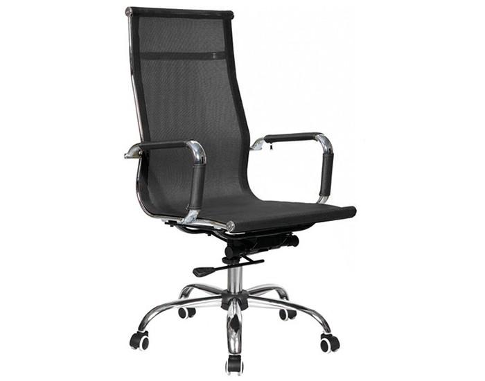 Cadeira Presidente - Encosto em Tela - Base Cromada - Relax - Pelegrin