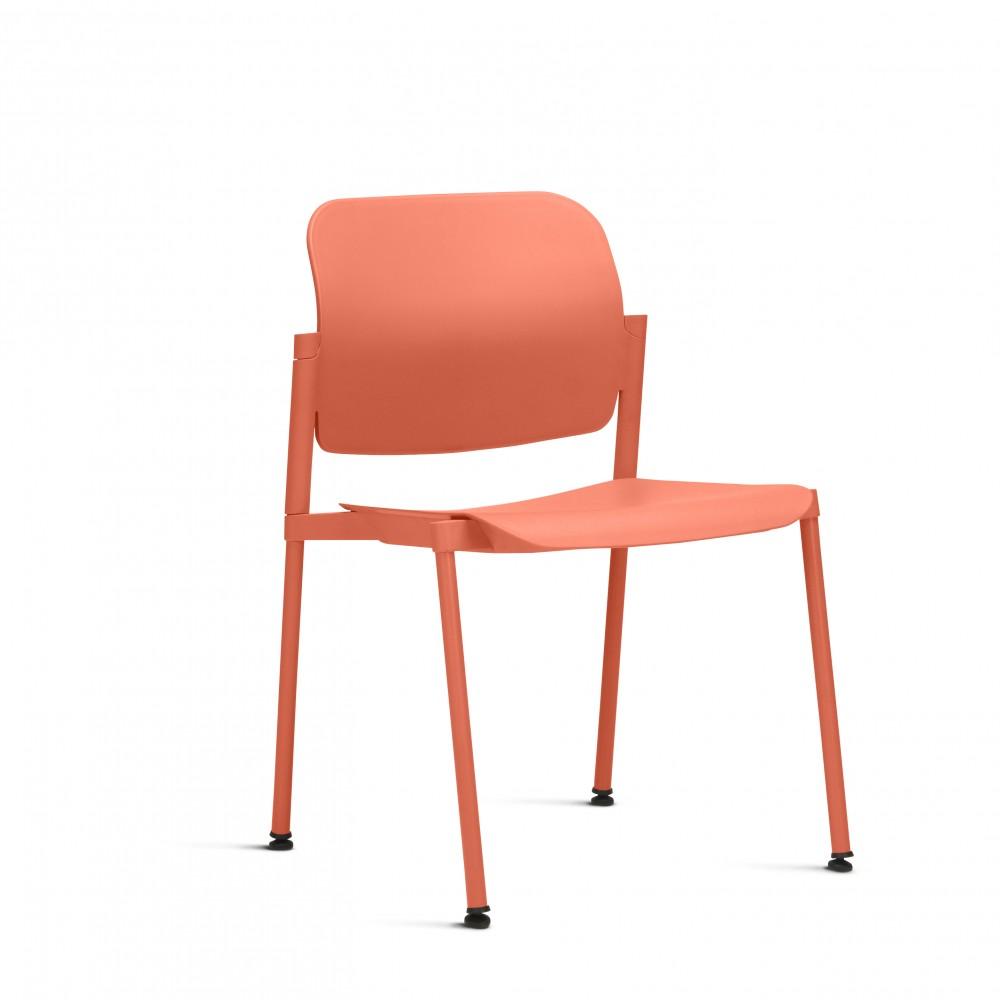 Cadeira Fixa em Plástico KLEA0001 -  Pé Palito - Linha Leaf - Sem Braço - Frisokar
