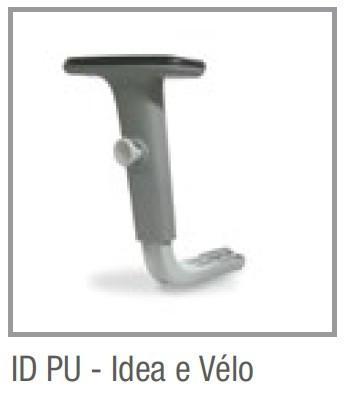 Diferença Conjunto de braços ID para ID PU - Cadeiras Idea e Vélo Caveletti
