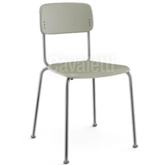 Cadeira Fixa Joy Estrutura Cromada