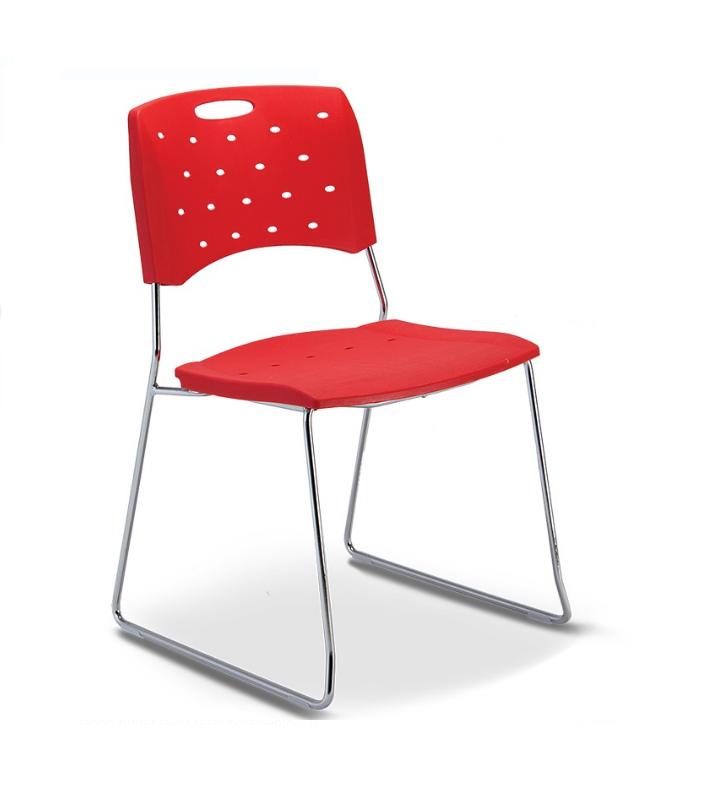 Cadeira para escritório fixa 35008 A - ESTRUTURA CROMADA - Linha Viva - Cavaletti