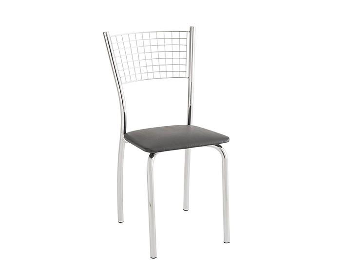 Cadeira 426 em Aço - Assento Quadrado - Estofada - Unimóvel