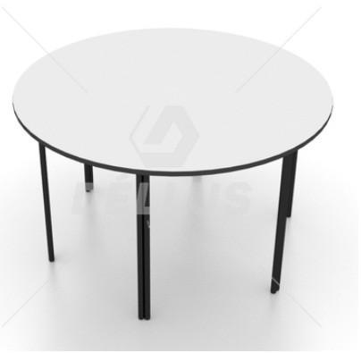 Conjunto de mesa redonda juvenil (6 à 10 anos) 1 mesa + 6 cadeiras - colorido - 06 Lugares - Dellus -