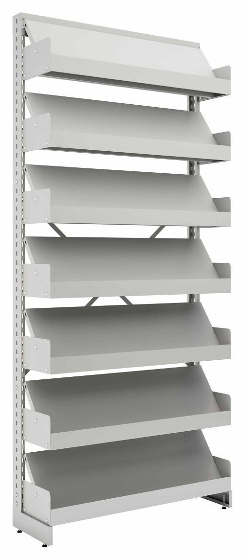 Estante Simples Face Expositora  para biblioteca  c/ 7 Prateleiras 2300X965X330mm