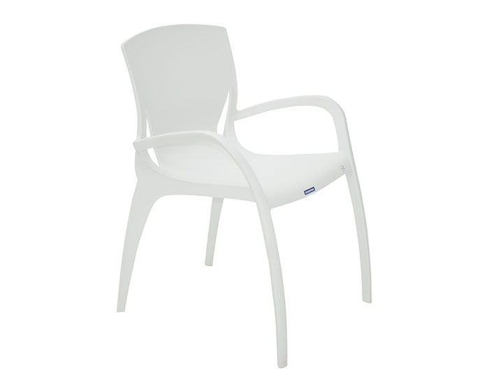 Cadeira Tramontina Clarice com Braços em Polipropileno e Fibra de Vidro -