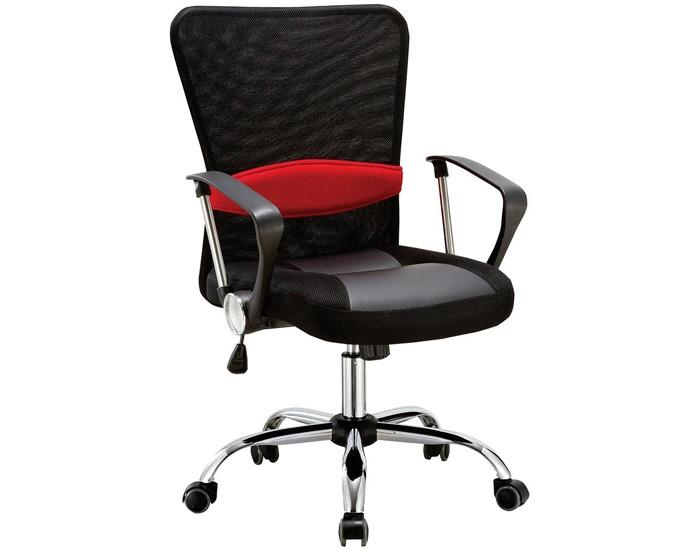 Cadeira Diretor - Encosto em Tela - Com Apoio Lombar - Base Cromada - Pelegrin
