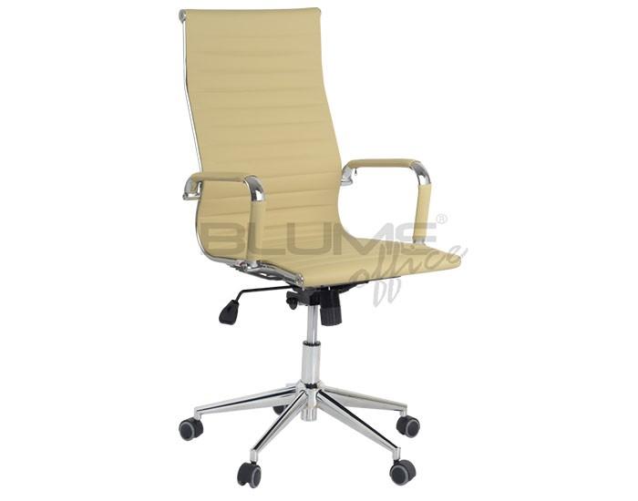 Cadeira para escritório giratória presidente BLUME 03 com Mecanismo Relax,  Braço fixo e Base Pirâmide Cromada