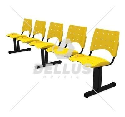 Cadeira Longarina Plástica - 05 Lugares - Dellus