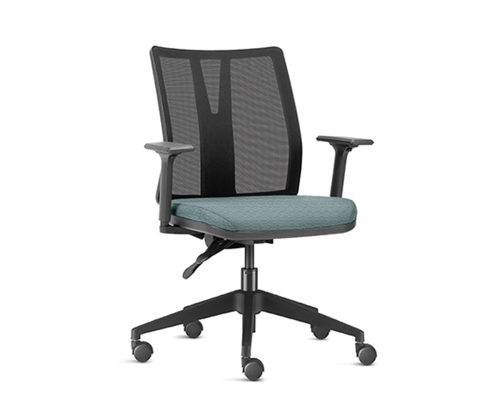 Cadeira Para Escritório Diretor Giratória KADD52 - Mecanismo Evolution - Base Piramidal Nylon - Linha Addit - Com Braço - Frisokar