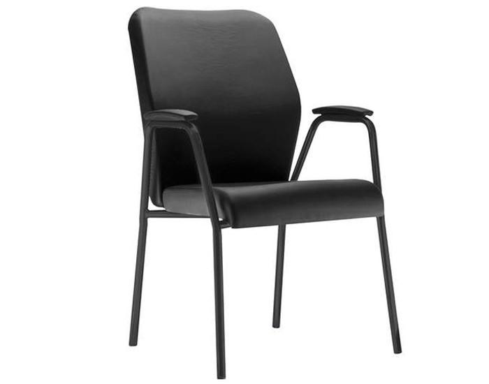 Cadeira Fixa POPFX086 - Base Palito - Linha Pointer Premium - Com Braço - Frisokar