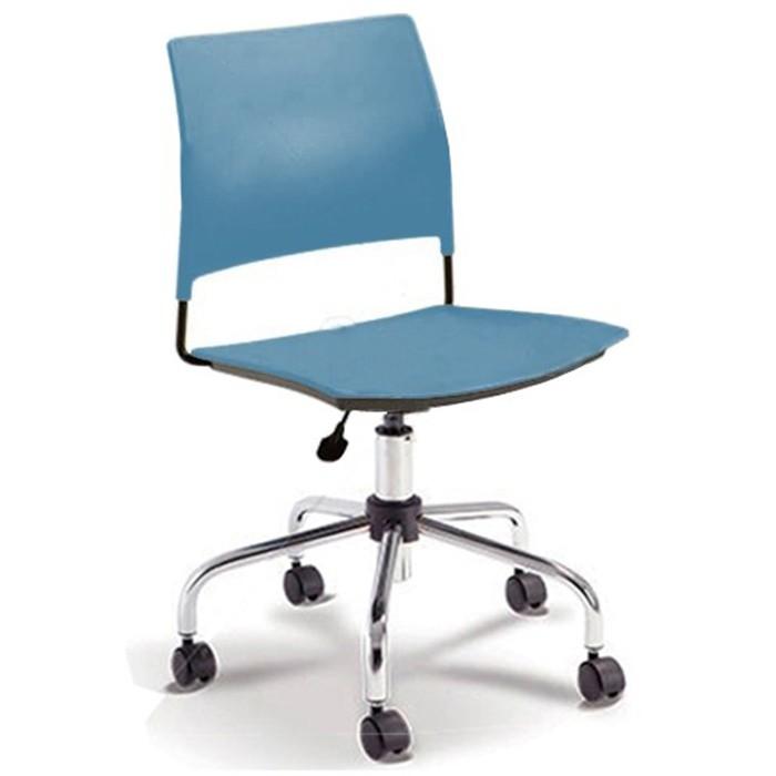 Cadeira para escritório executiva giratória 34003 - Sem Braço - Linha Go - Cavaletti - Base Aranha Cromada
