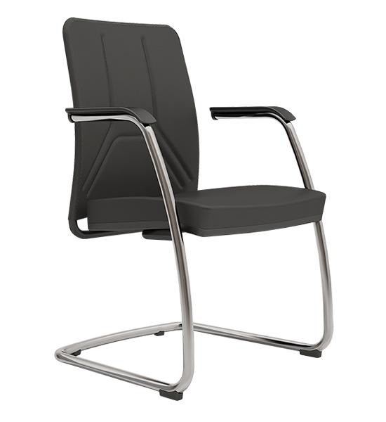 Cadeira para escritório Fixa 19006 SL - Linha Way - Estrutura Cromada - Cavaletti