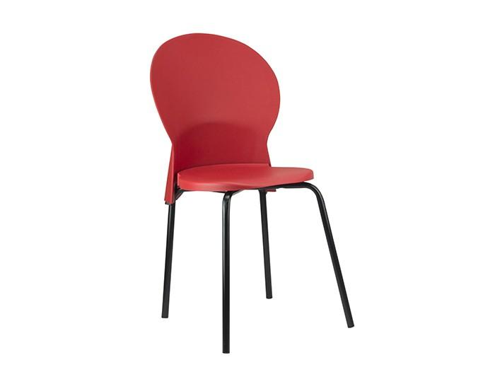 Cadeira Fixa LUN01 - Base Fixa Preta - Linha Luna - Sem Braço - Frisokar
