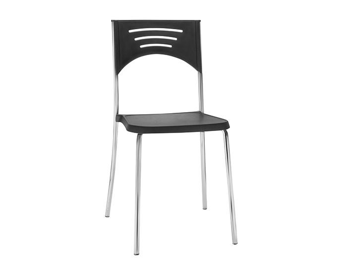 Cadeira Fixa BLISS3 - Base Fixa Cromada - Linha Bliss - Sem Braço - Frisokar