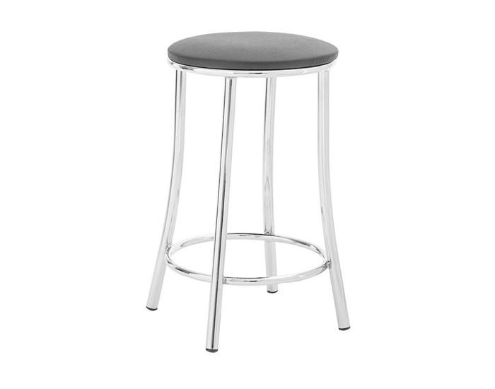 Banqueta Bar 015 - Sem Encosto - 56cm - Assento Estofado