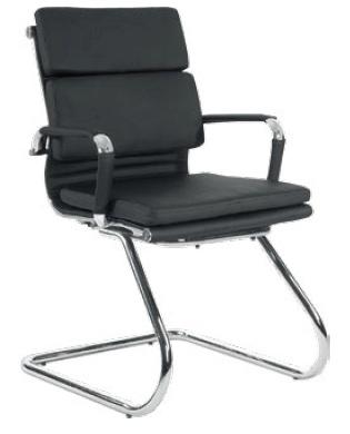 Cadeira para escritório fixa de aproximação - BLUME 08 - Braço fixo - Base SKI Cromada