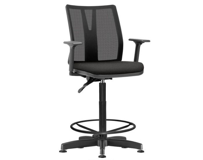 Cadeira Caixa KADD55 - Mecanismo Evolution - Base Caixa Metálica com Capa - Linha Addit - Com Braço - Frisokar