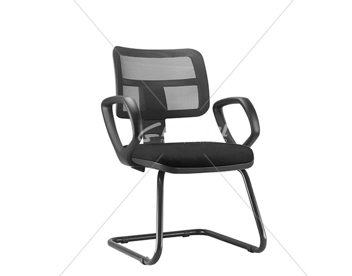 Cadeira Fixa ZIPFX406 - Base SKL - Linha ZIP - Com Braço - Encosto em Tela - Frisokar
