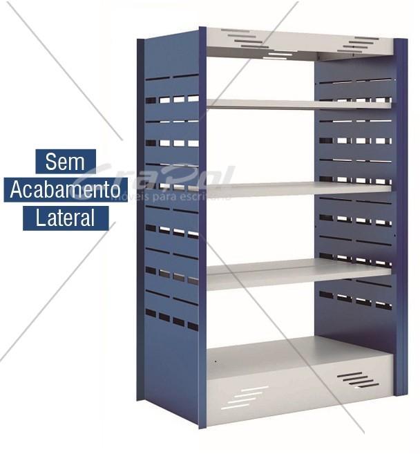 Estante Dupla Face para Biblioteca  -  W-teca-  c/ 3 Prateleira + Base 1500 X 1000 X 580 mm